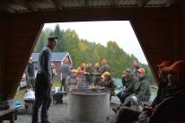 Lunchpaus under nybörjarjakten som vi arrangerade tillsammans med Jägarförbundet Indal-Liden.
